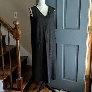Eileen Fisher Black Wool Sleeveless Dress